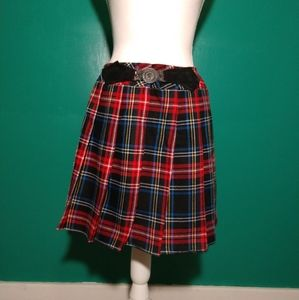 80's vintage plaid skirt